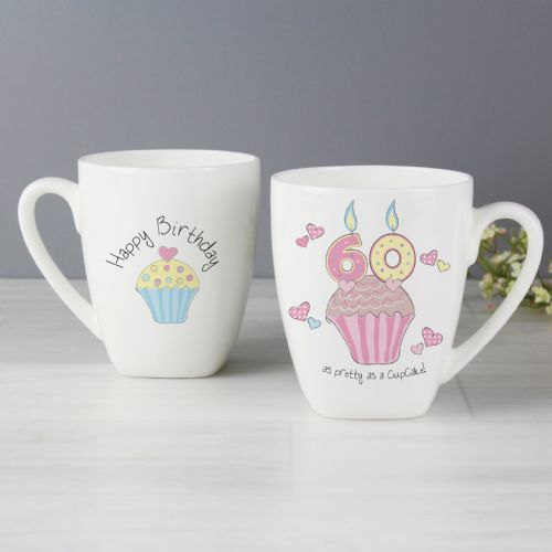 Cupcake Design 60th Birthday Latte Mug Gift Keepsake